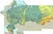 Физическая карта России высокого разрешения с городами