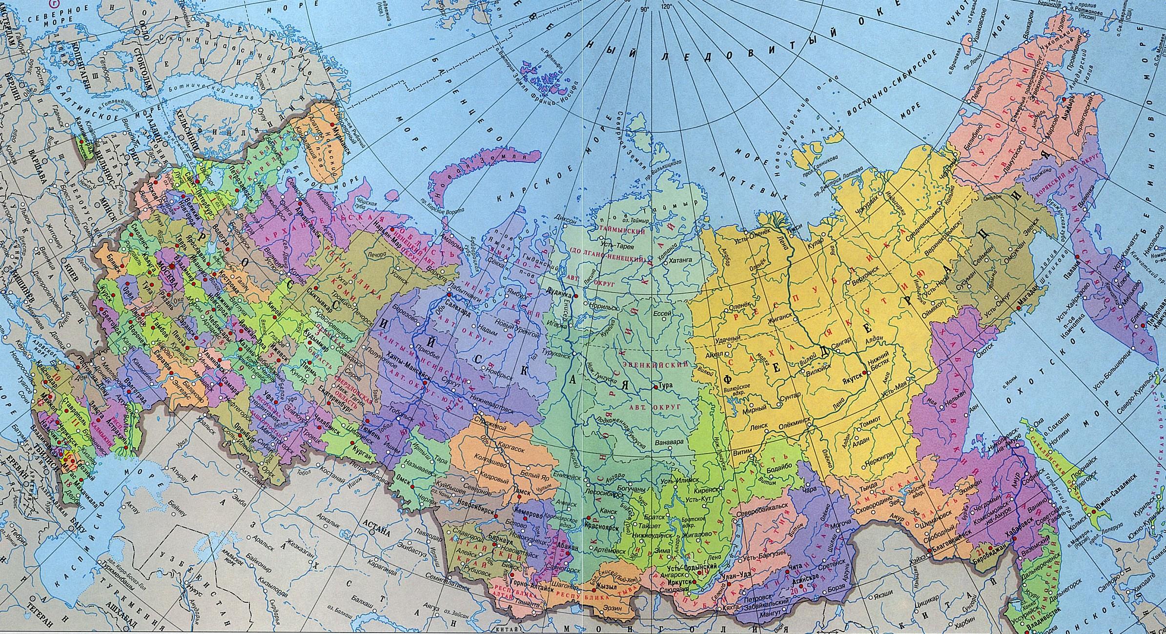 Карта россии очертания в высоком качестве
