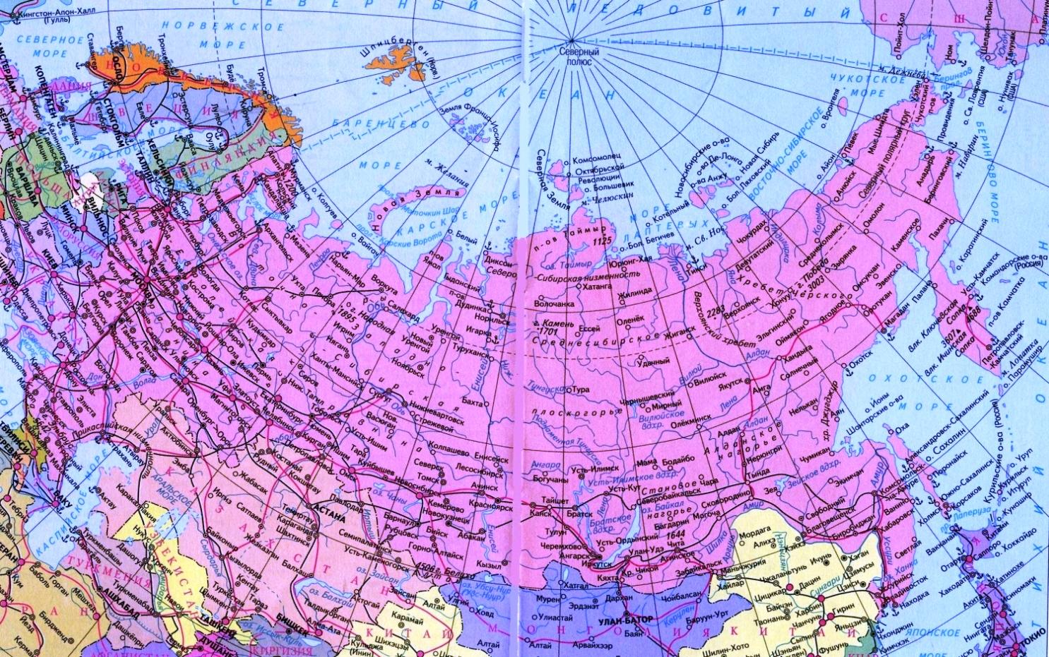 Контурная Карта Снг И России