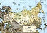Карта России на английском языке.